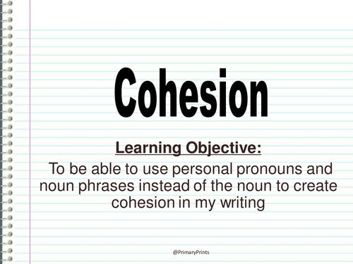 Cohesion Lesson