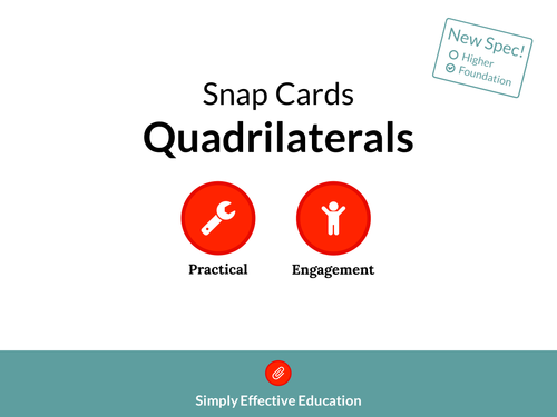 Quadrilaterals (Snap Cards)