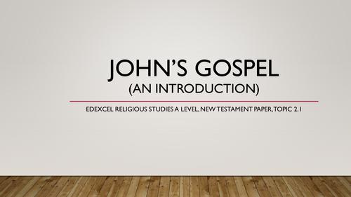 Background to the Gospel of John. Edexcel New Testament Topic 2.1