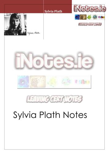 Sylvia Plath Notes