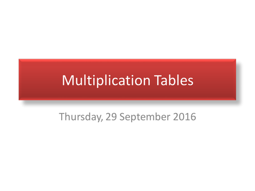 PowerPoint to help students learn their multiplication tables.
