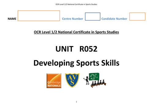 RO52 OCR National Certificate in Sports Students student log