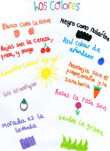 Colours poem - Spanish