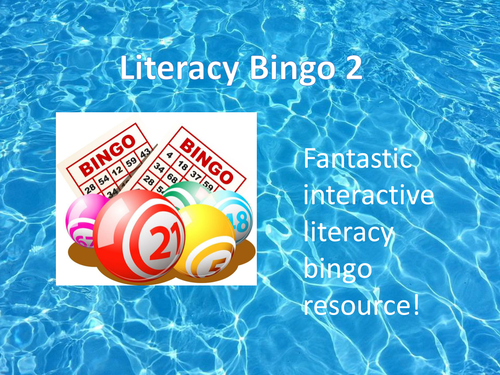 Literacy Bingo Activity with Starters - Ideal for KS2 and KS3
