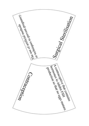 AQA Contraception Key Words Puzzle by ScienceTeacherXX