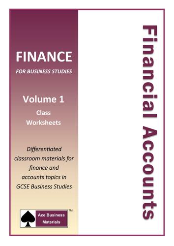 Financial Accounts for GCSE Business Studies