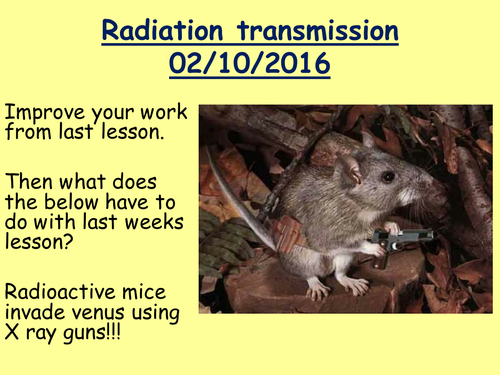 travelling radiation and transmission new curriculum