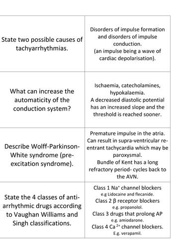 Heart Health 3 Arrhythmia treatments Flashcards