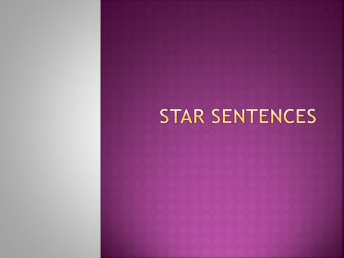 Star sentence and sentence types