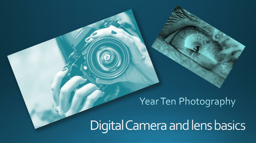 A presentation to explain the basics of digital photography and lens types
