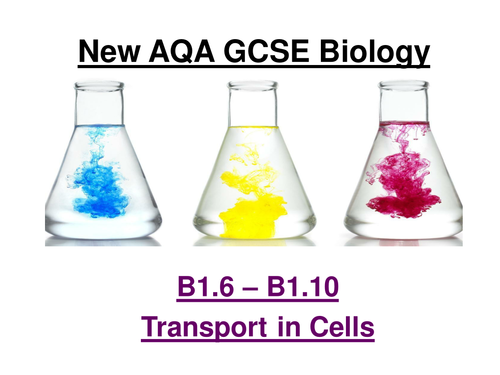 New AQA GCSE Biology Separates B1.1 to 1.10 Cells ppt and checklists