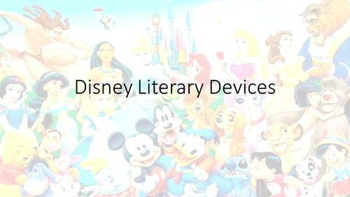 Literary devices in Disney