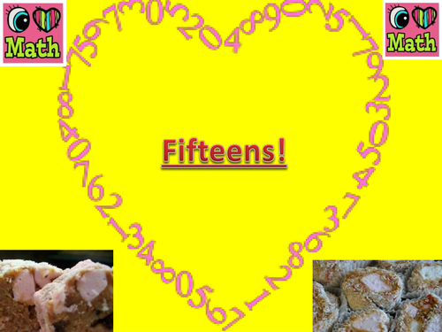 Fifteens Biscuits PPT - Open Evening Activity/Interactive lesson