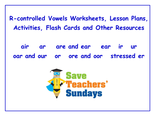 R Controlled Vowels Worksheets Lesson Plans Activities