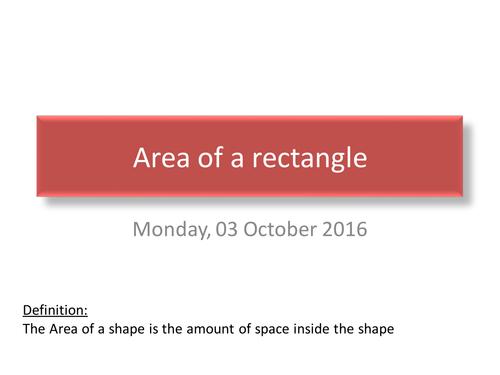 Area & Perimeter of a rectangle