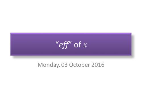 The understanding of f(x)