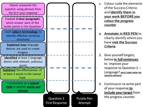 AQA Paper 1 - Self/Peer Assessment Question 2