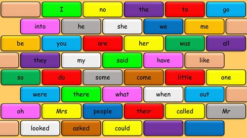 Tricky word bricks