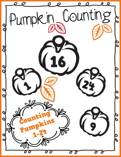 Pumpkin Counting 1-24