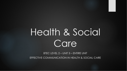 developing effective communication in health and social care p3