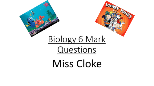 50  6 Mark questions and answers  Cartoon style Biology