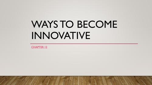 AQA A-Level Business - Unit 9 - Innovation