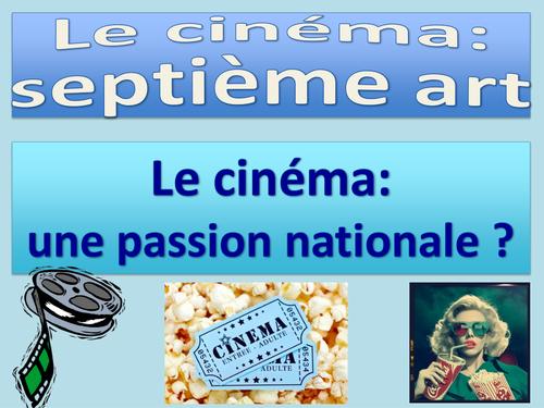 Le 7ème art (Septième art) - Cinéma: Une passion nationale AQA / French / AS Level / New / 2016