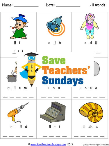 Ll Phonics Worksheets Activities Flash Cards And Other Teaching Resources Teaching Resources