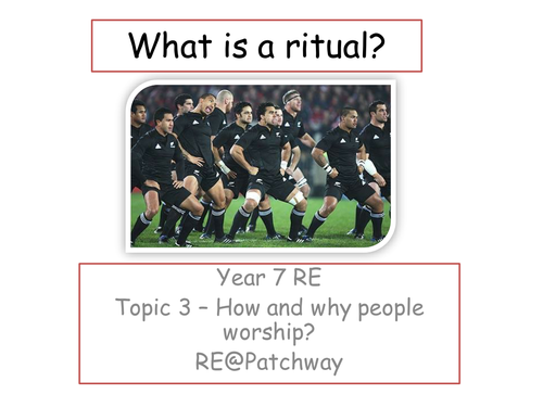 KS2/3 RE - What is a ritual?