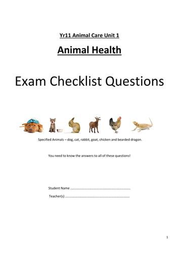 Unit 1 Exam Question Checklist