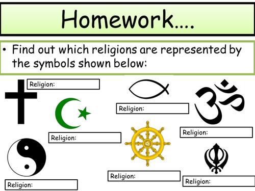 Ks3 Re Expressions Of Faith Lesson 1 How Are Symbols Used In
