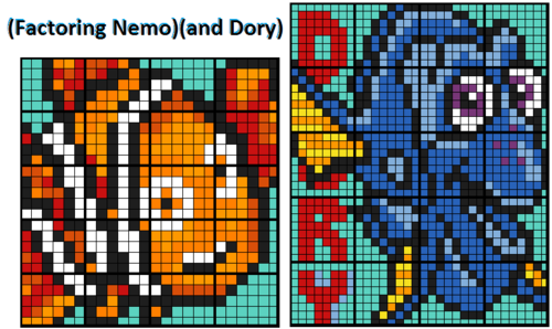 factoring dory nemo two 20 worksheet collaborative math mosaics by calfordmath teaching. Black Bedroom Furniture Sets. Home Design Ideas