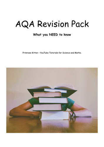 AQA 2017 Revision Pack (B1,B2, B3, C1, C2, C, P1, P2 and P3) Biology chemistry and physics