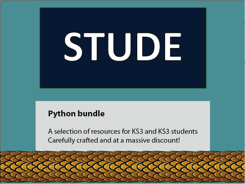 Python KS3 lesson bundle