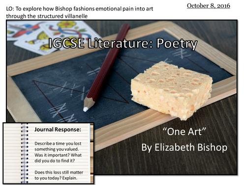 One Art by Elizabeth Bishop (IGCSE Literature)