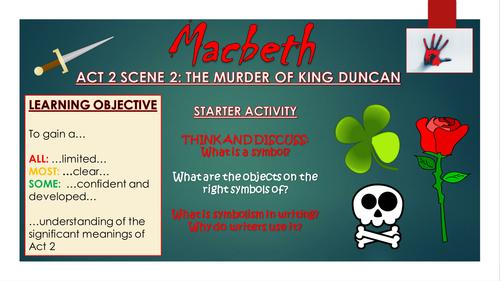 Macbeth Act 2 Scene 2 The Murder Of King Duncan By Tandlguru