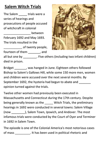 the dangers and climax of mass hysteria during the salem witch trials and the second red scare in th