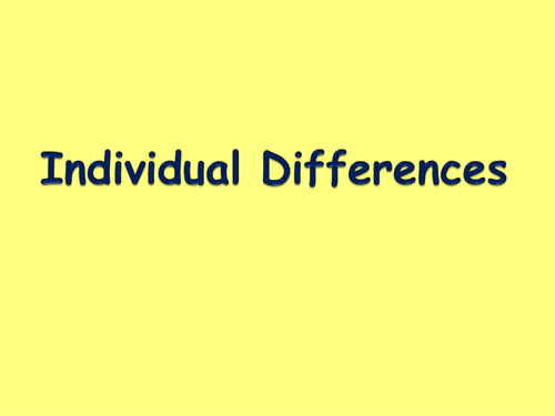 GCSE PE Individual Differences in Sport - Age