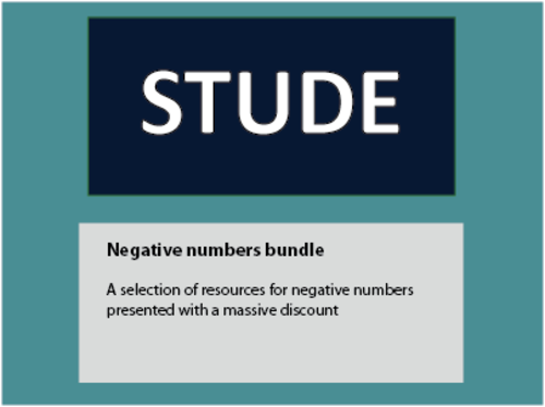Negative numbers bundle