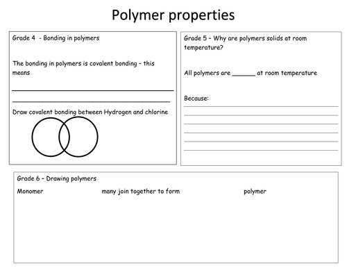 New Grade 4-6 differentiated polymer sheet