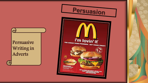 Year 7 Persuasive Writing and Language in Adverts