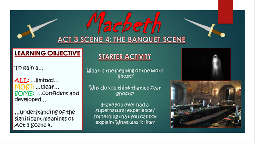 Macbeth: Act 3 Scene 4 - The Ghost (Banquet) Scene!
