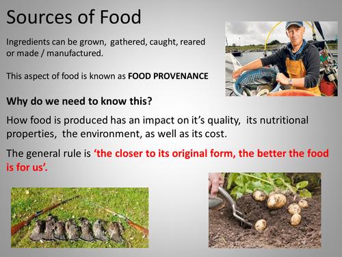 Sources of Food - Food Provenance
