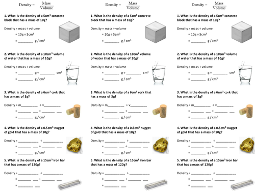 density of solids and liquids worksheet by alexpce teaching resources. Black Bedroom Furniture Sets. Home Design Ideas