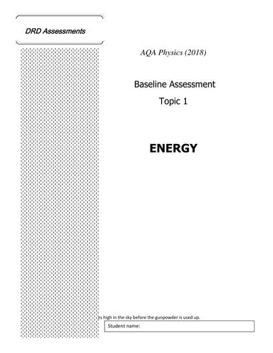 AQA Physics (2018) Energy Assessment