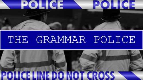 The Grammar Police - Assembly and Competition