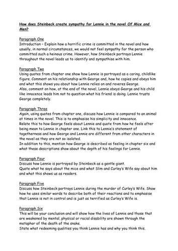 of mice and men crooks essay plan by misslmlovatt teaching of mice and men crooks essay plan by misslmlovatt teaching resources tes