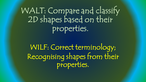 Properties of 2D Shapes Powerpoint Year 5 and 6