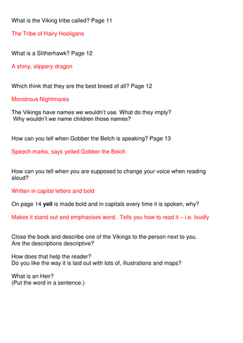 Cressida Cowell - How to train your Viking - complete half term's Guided Reading