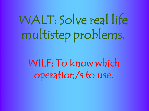 Multistep word problems powerpoint involving money - year 5 and 6